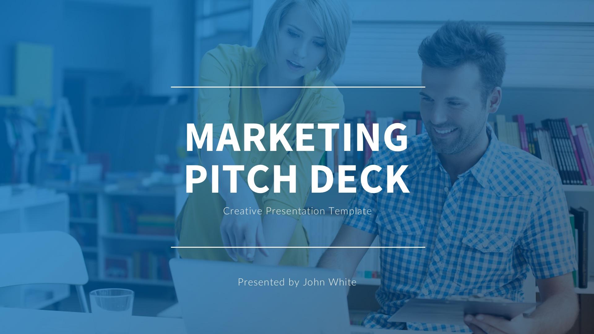 Marketing Pitch Deck Google Slides Template