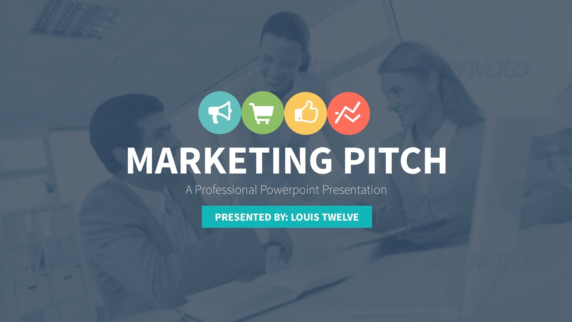 Marketing Slide Pitch Deck Keynote Template