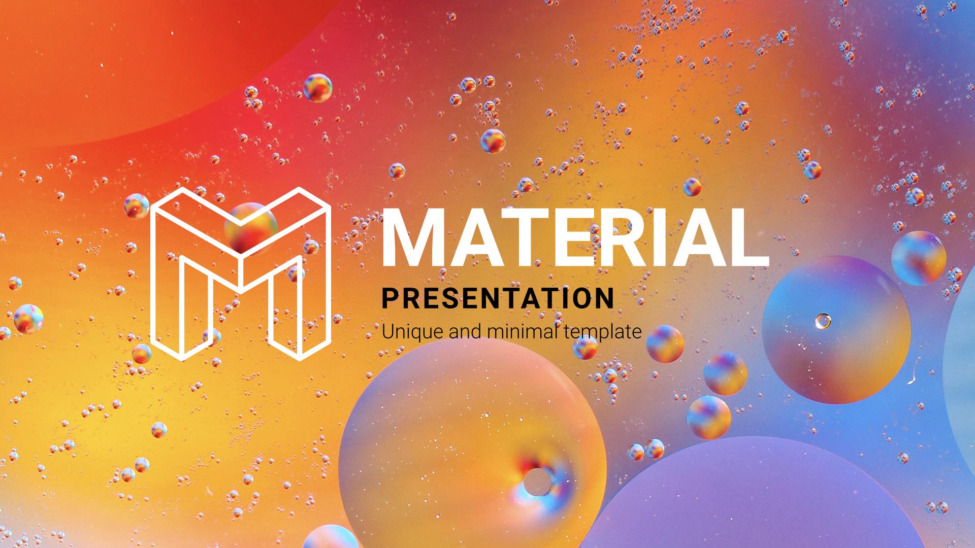 Material Slides Google Slides Template