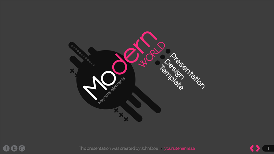 Modern World Keynote Presentation