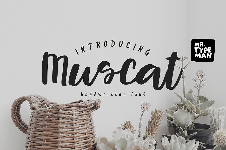 Muscat Handwriting Free Font