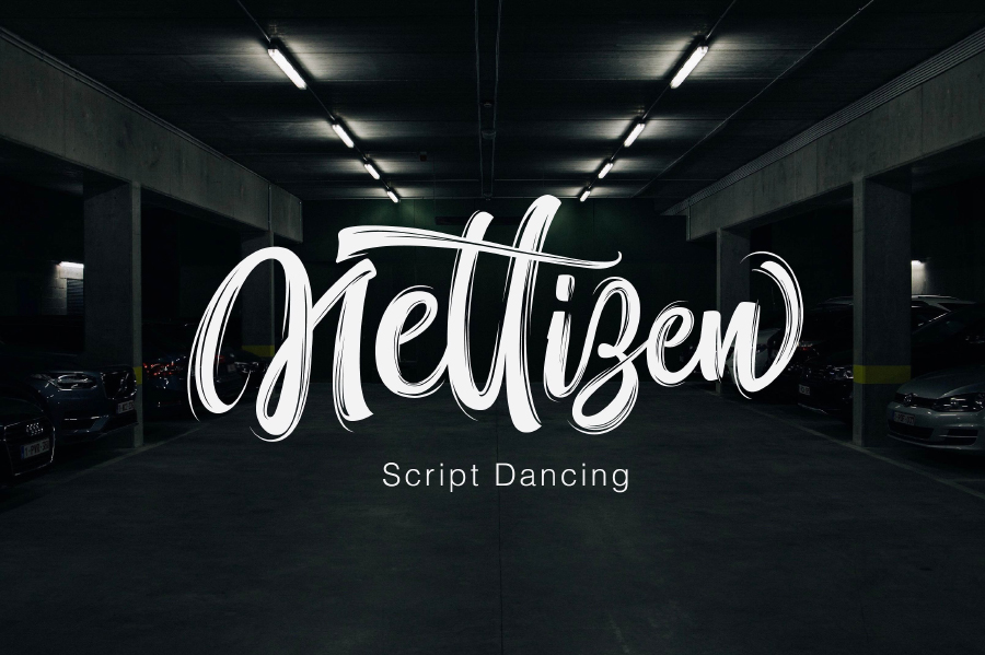 Nettizen Brush Free Font
