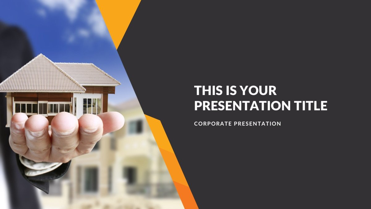 Constructor Real Estate Free PowerPoint Template
