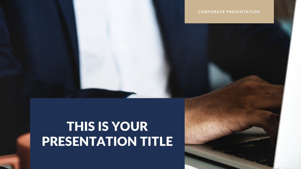 Navy Business Free PowerPoint Template