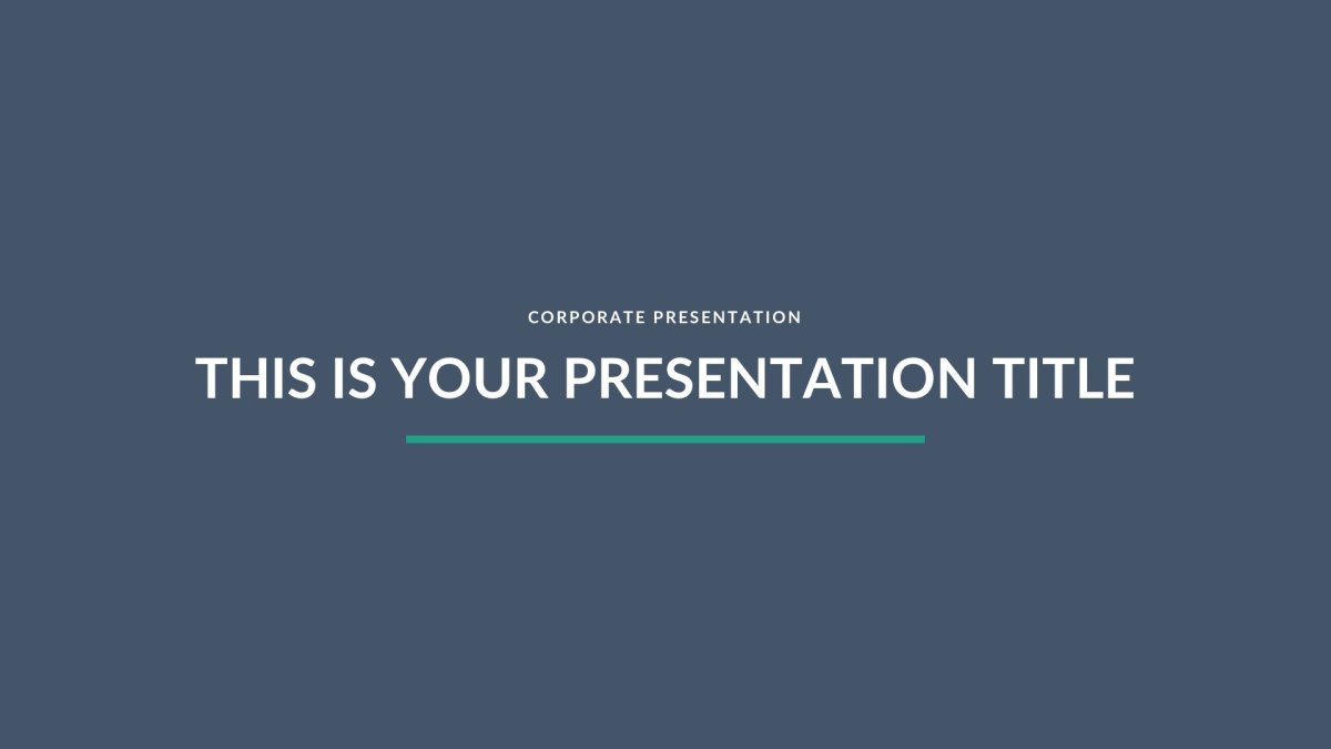 Turquoise Business Fee PowerPoint Template