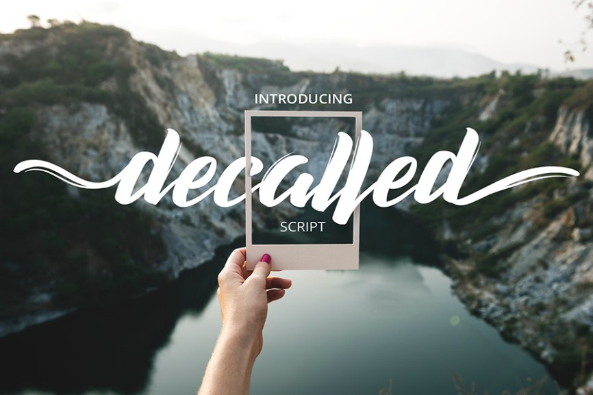 01 - Decalled Script Free Font Demo