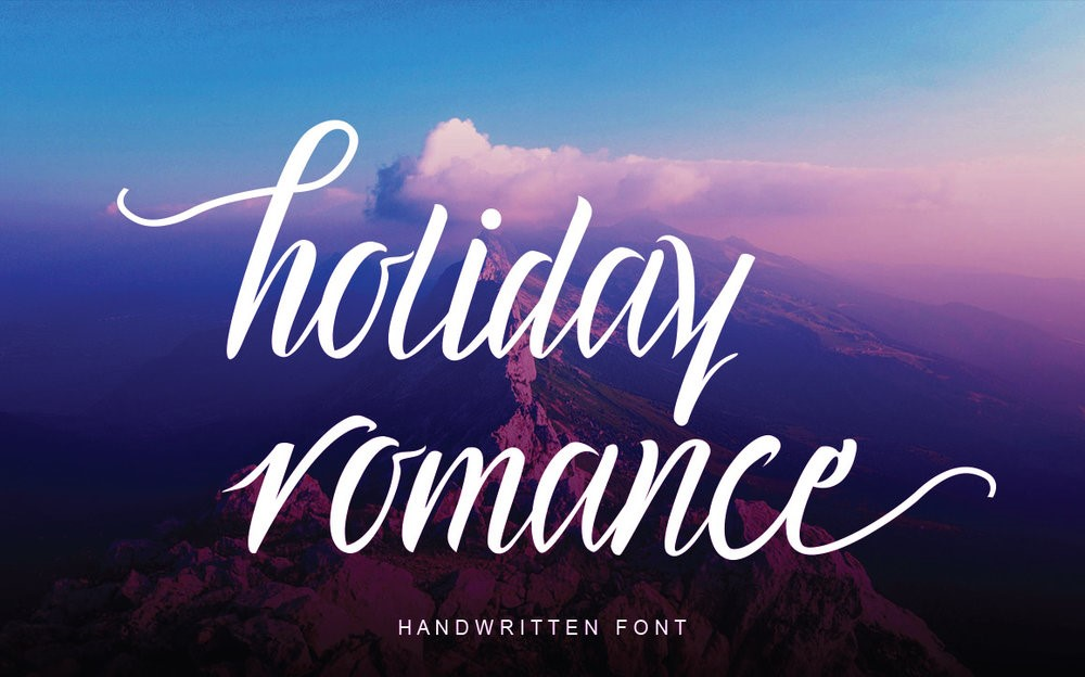 01 - Holiday Romance - Free Script Font