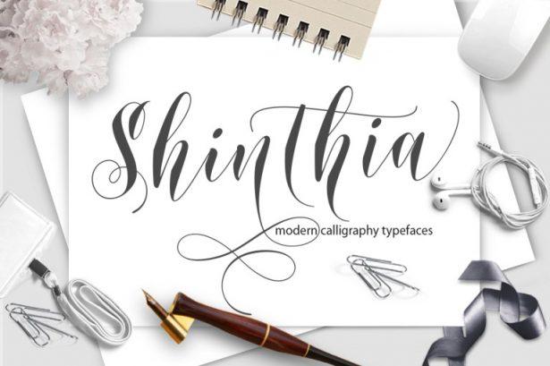 Shinthia Script Font