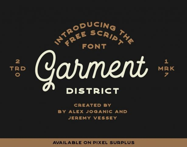 Garment District - Free Monoline Script Font