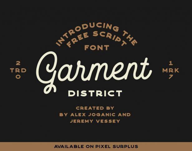 Garment District - Free Monoline Script Font