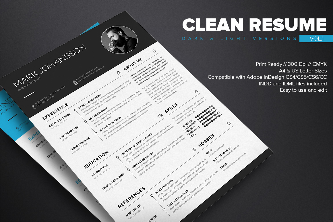 Clean Resume Template - Free