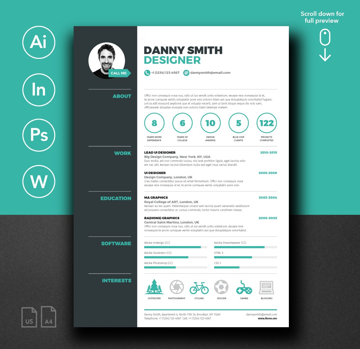 Danny Smith Free Resume Template