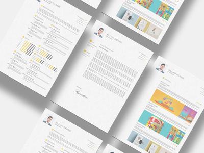 Free CV Resume Set Template (INDD, PSD, PDF)