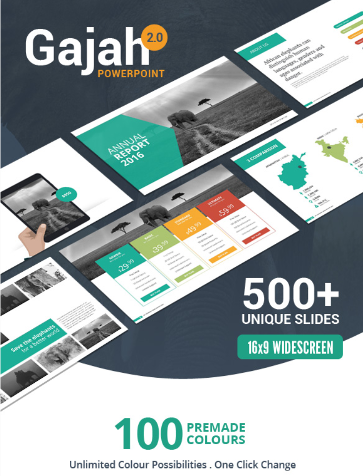 Gajah PowerPoint Template