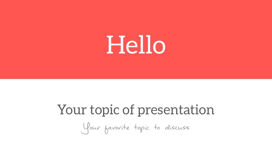 Hello PowerPoint Template