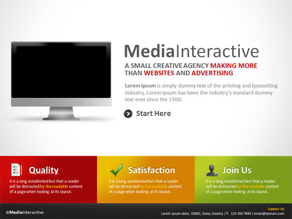Media Interactive PowerPoint Template