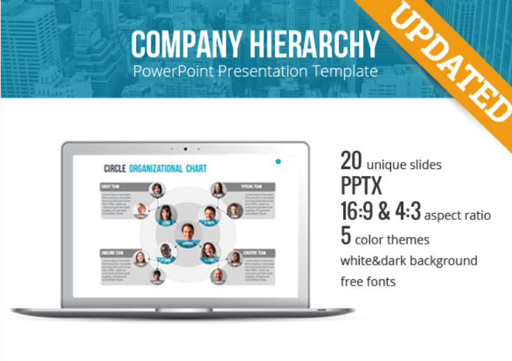 Organizational Chart and Hierarchy PowerPoint Template