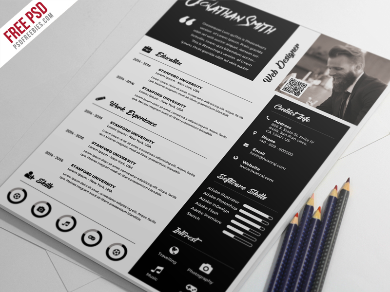 Premium Resume Template PSD