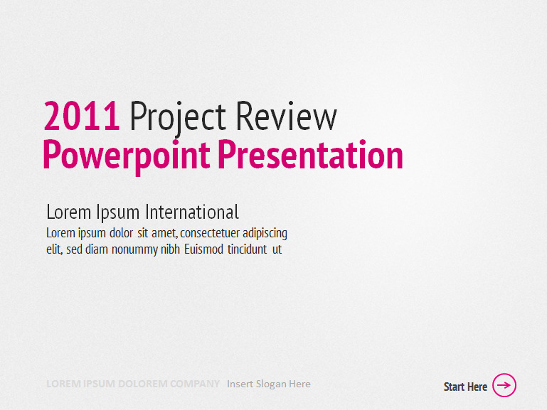 Review PowerPoint Template