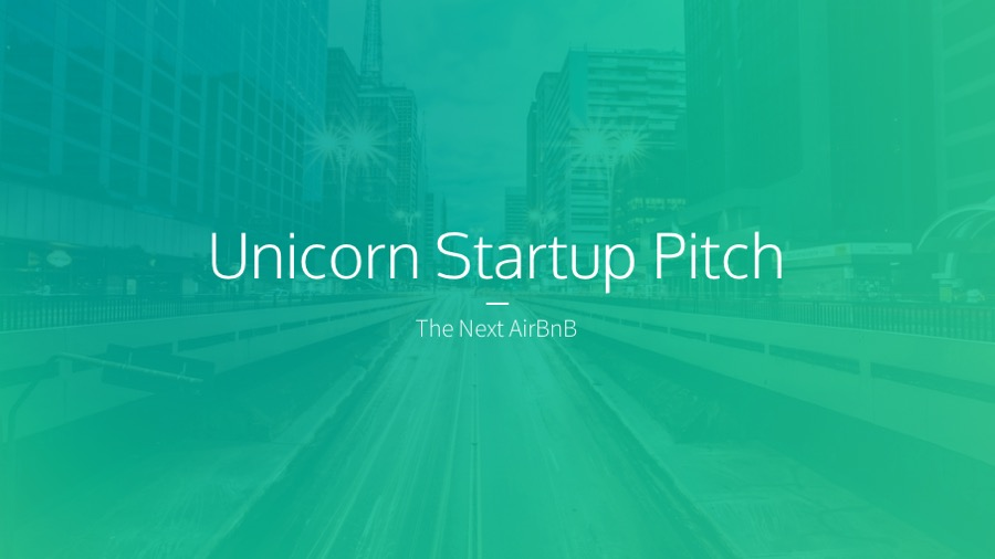 Unicorn Startup Pitch Deck