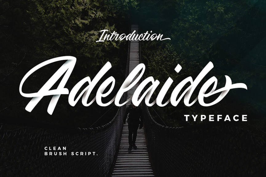 01 - Adelaide Script Font Demo