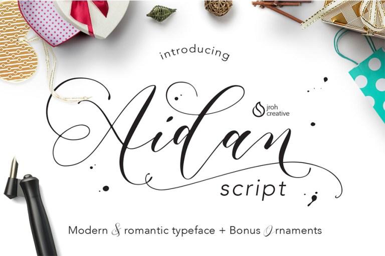 01 - Aidan Romantic Script Font