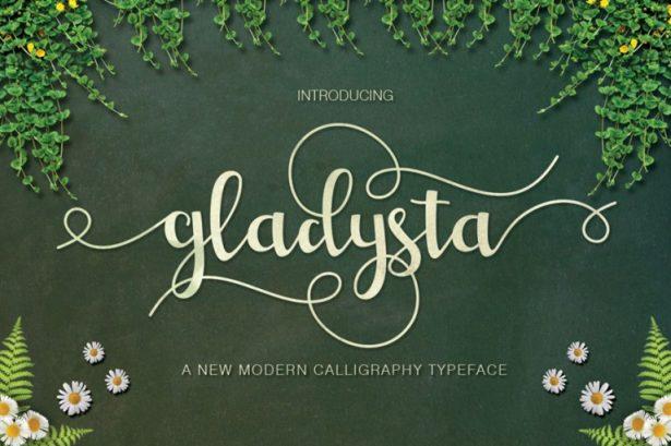 01 - Gladysta Script Font