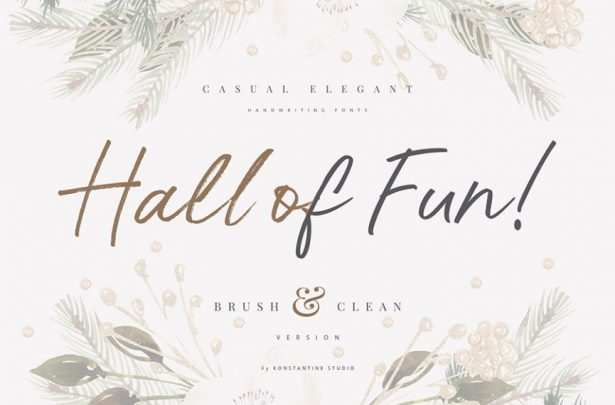 01 - Hall of Fun Script Free Font Demo