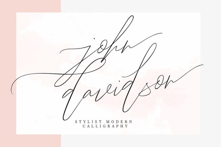 01 - John Davidson Script Font Demo