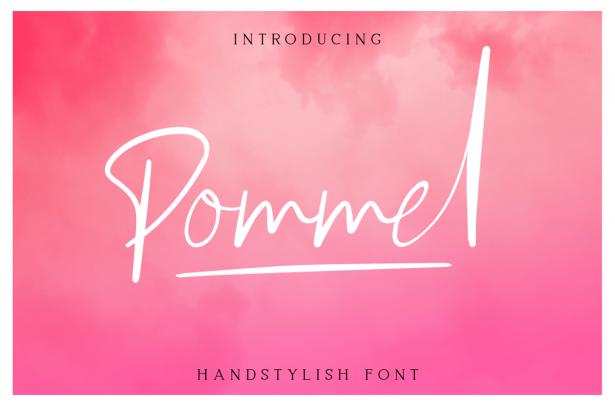 01 - Pommel Script Free Font Demo