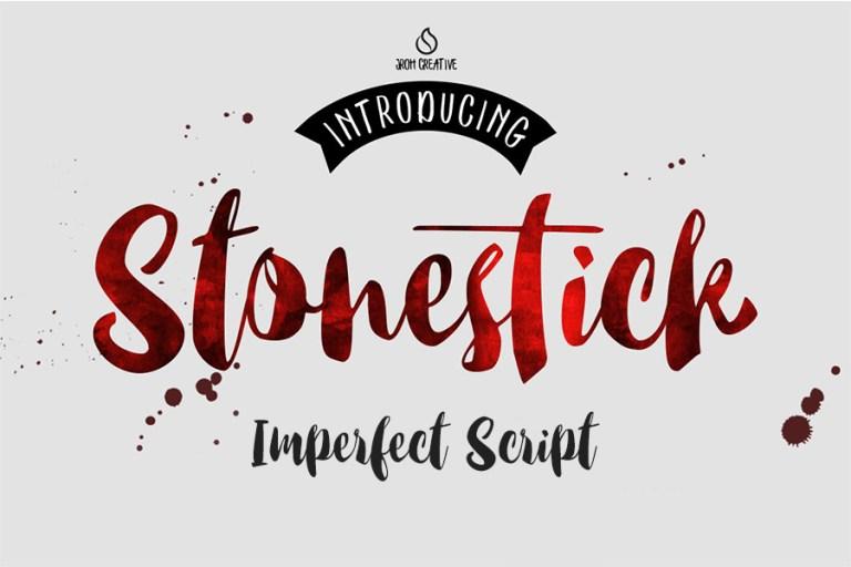01 - Stonestick Imperfect Script Font
