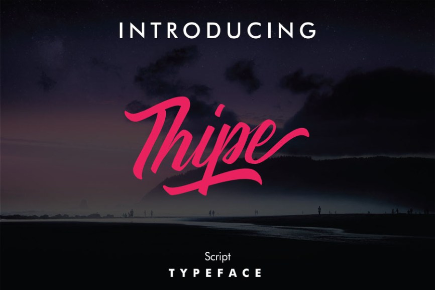 01 - Thipe Script Free Font