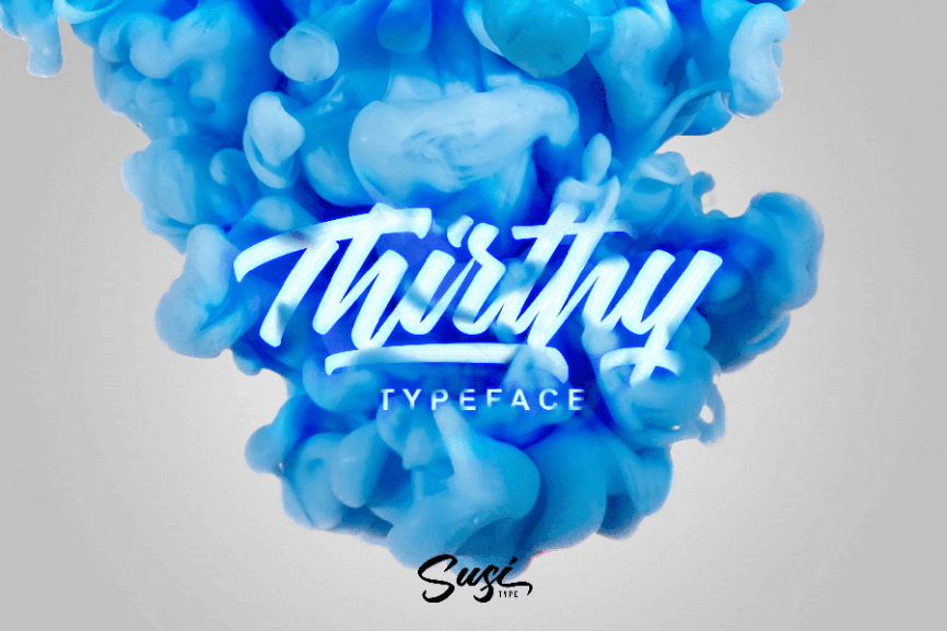 01 - Thrithy Script Font Demo