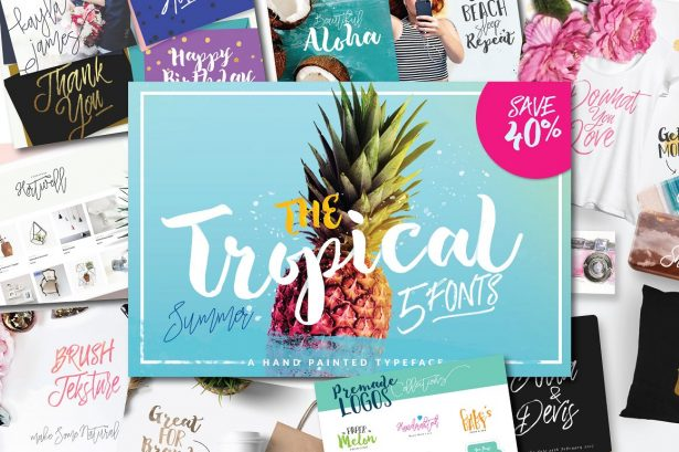 01 - Tropical Bush Script Free Font Demo