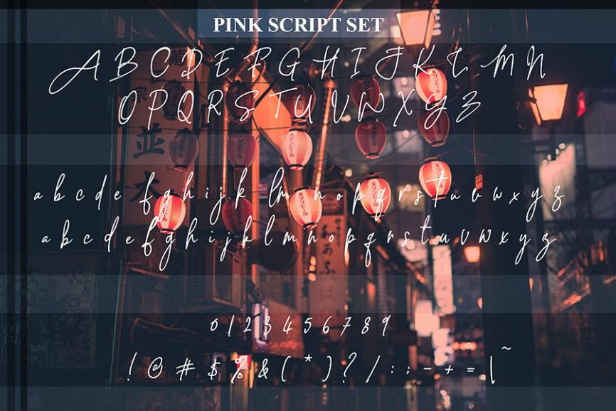 03 - Pink Script Free Font Demo