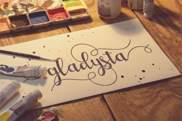 04- Gladysta Script Font