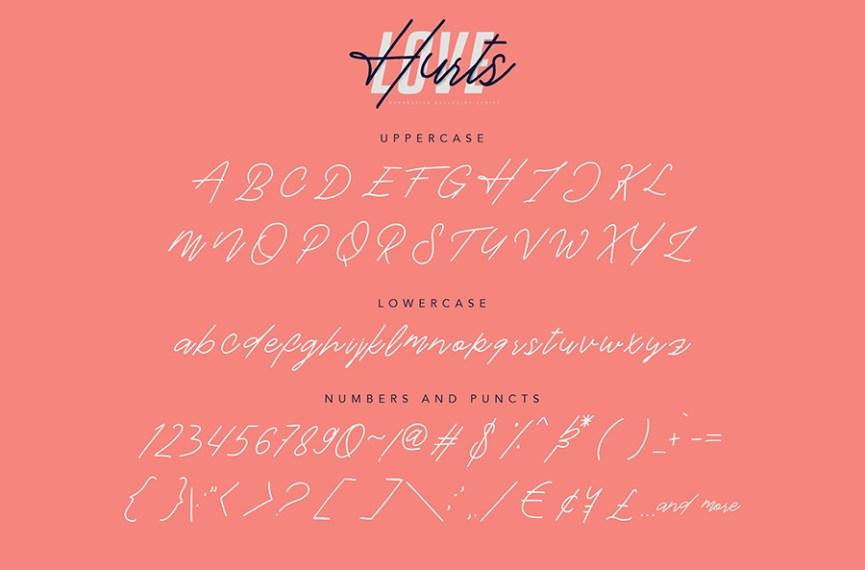 04 - Love Hurts Script Font Demo