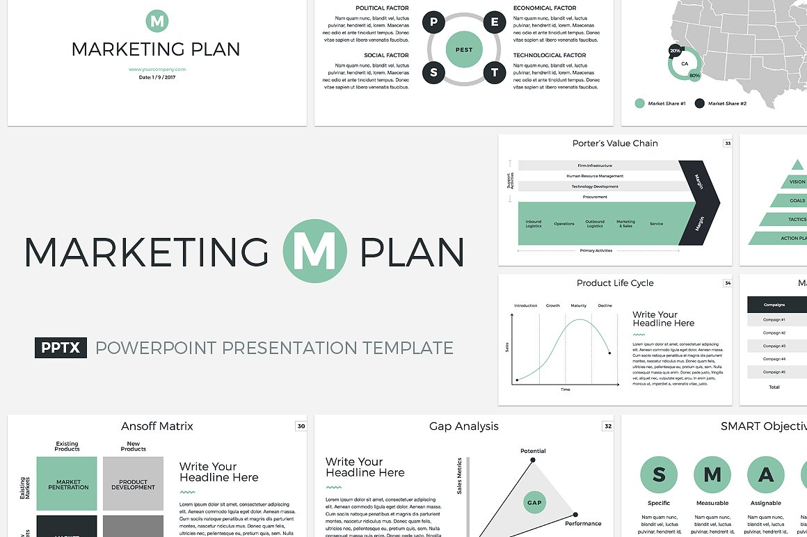 19 - Marketing Plan PowerPoint Template