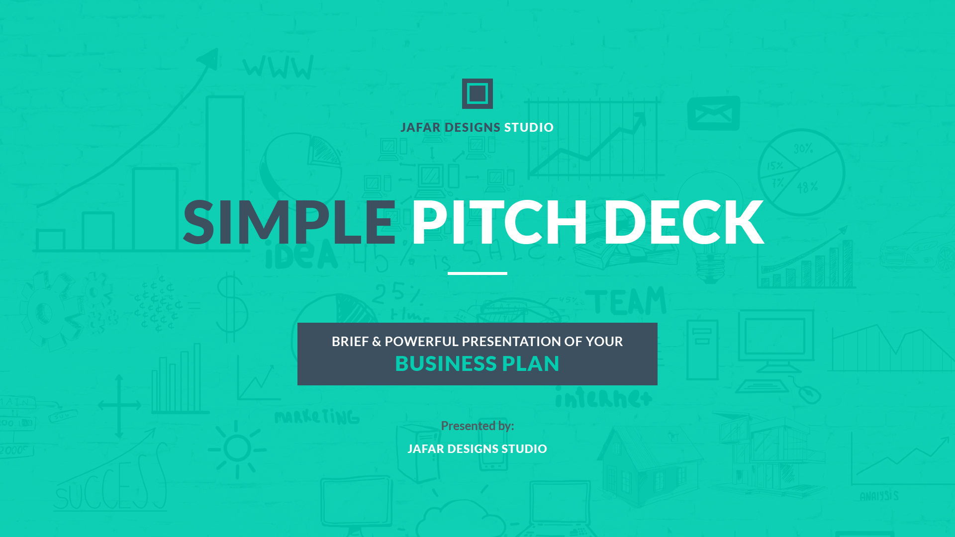 22 - Simple Pitch Deck Keynote Template