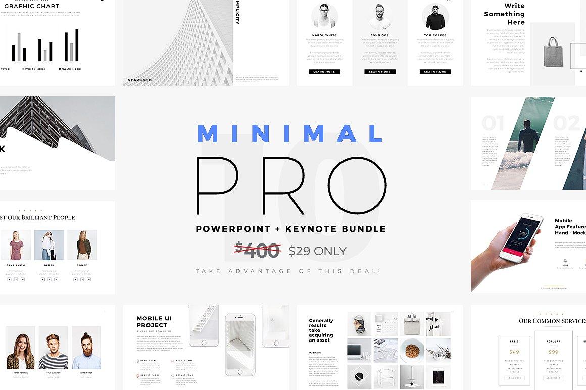 3 - Minimal PRO Presentations Bundle