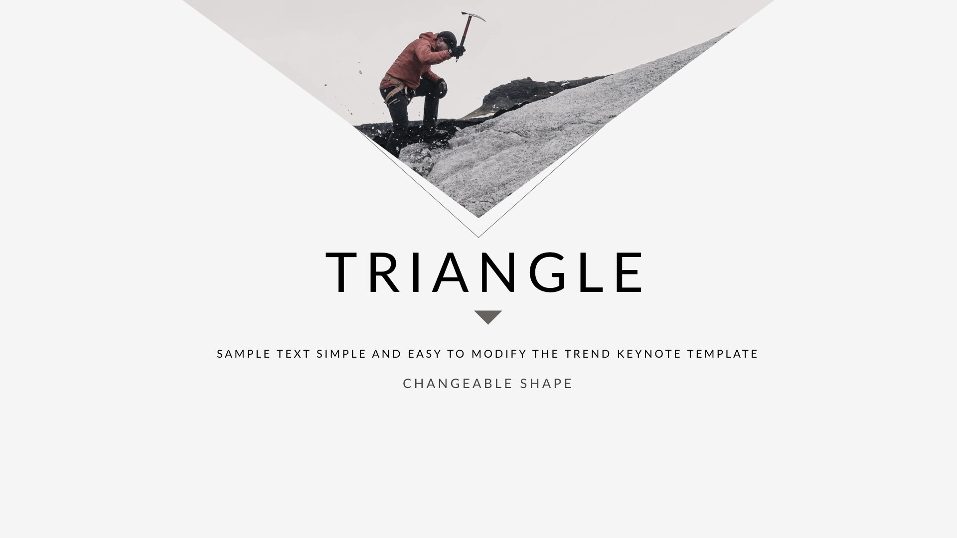 3 - Triangle Clean Trend Keynote Template