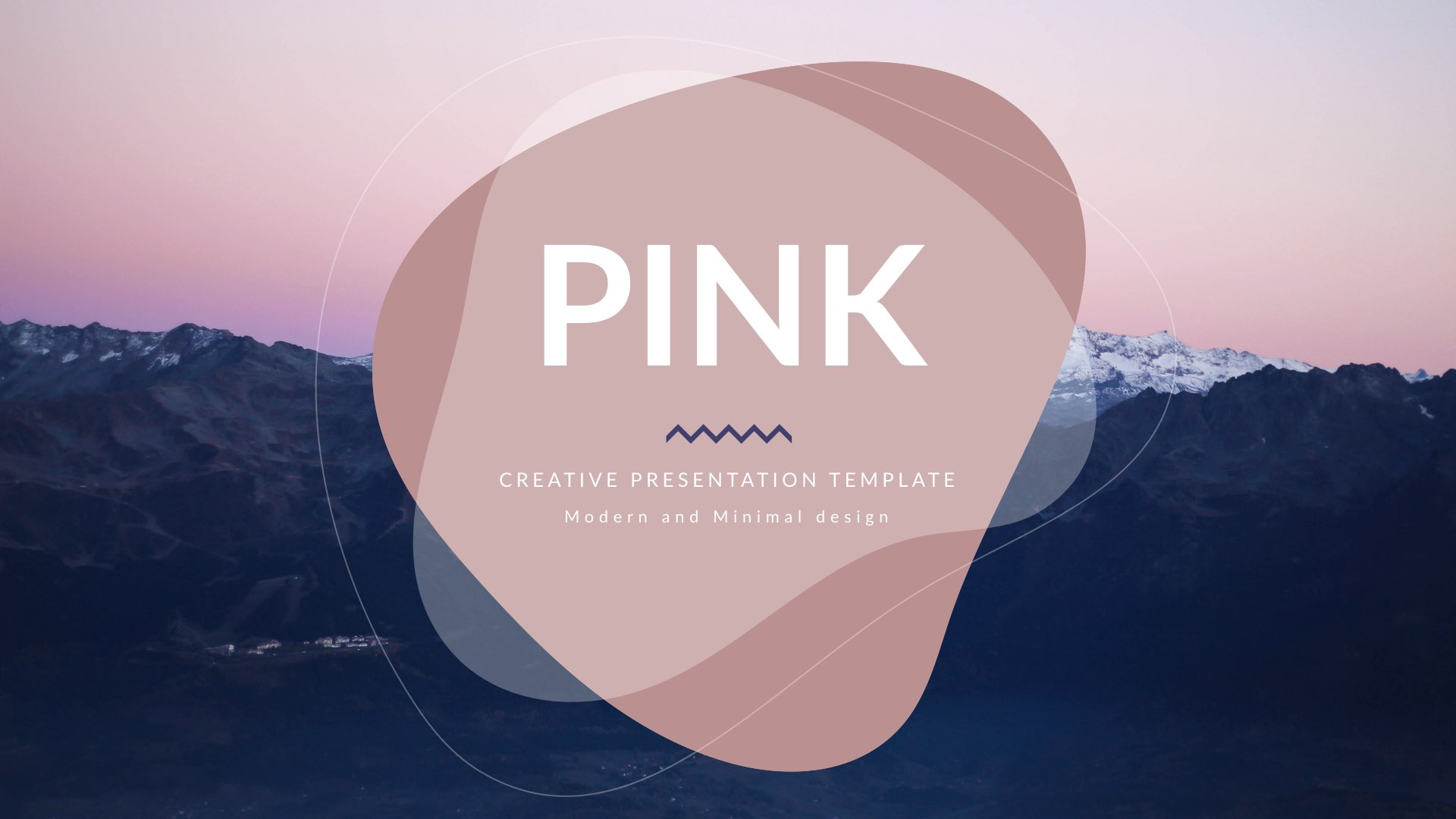 33 - Pink Minimal Creative Keynote Template