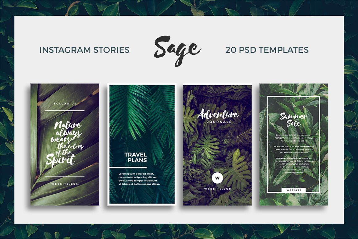 34. Sage - Instagram Story Templates