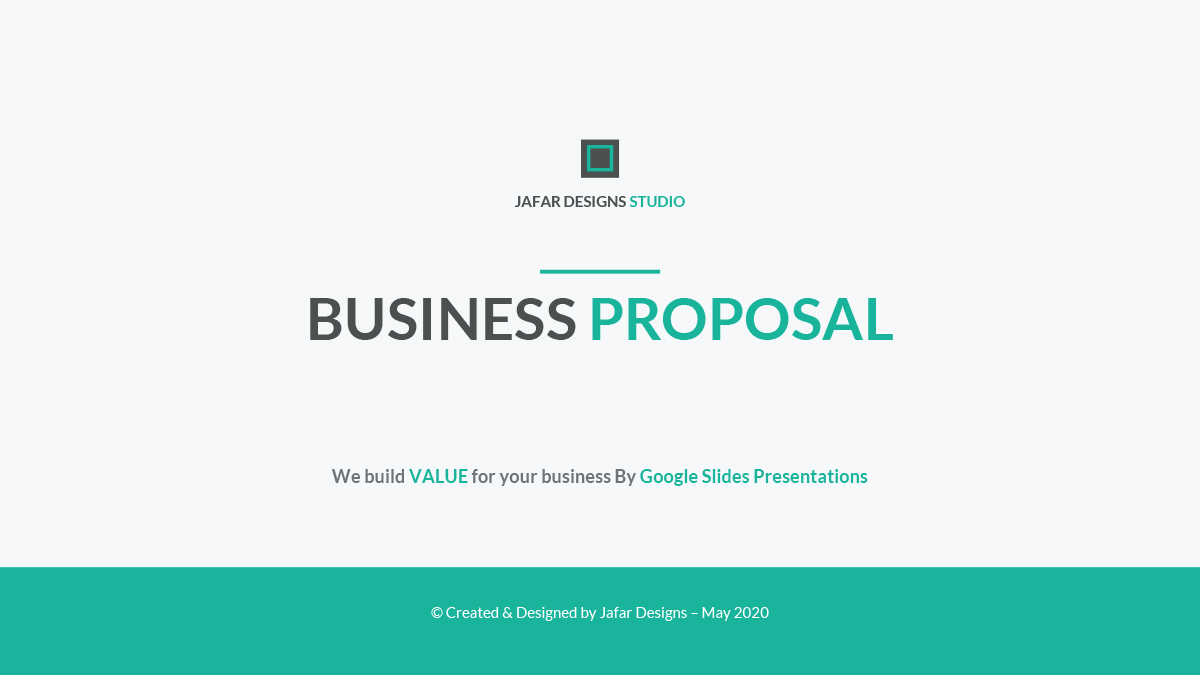 37 - Business Proposal Google Slides Template