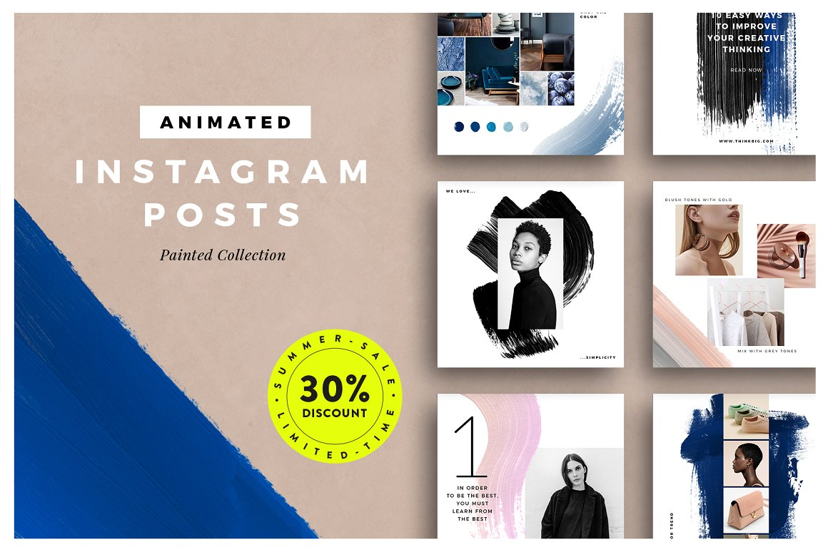 39. ANIMATED Painted Instagram Posts