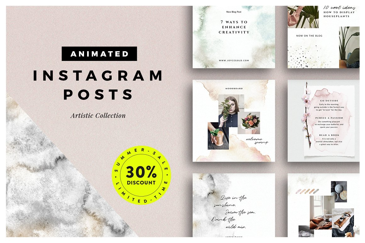 53. ANIMATED Artistic Instagram Posts