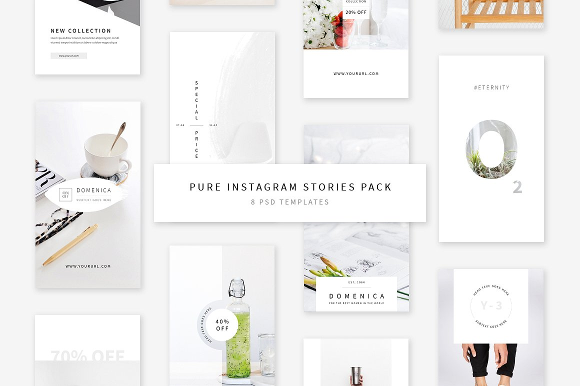 55. Pure Instagram Stories Pack