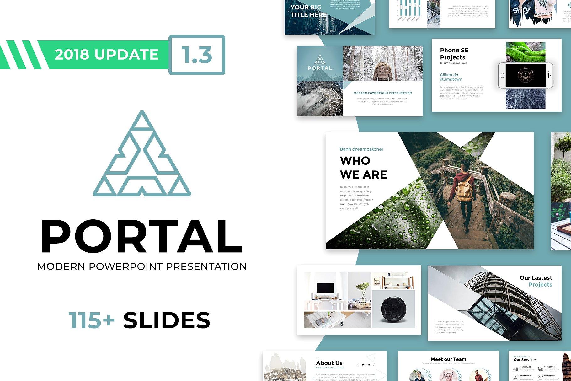8 - Portal Modern PowerPoint Template