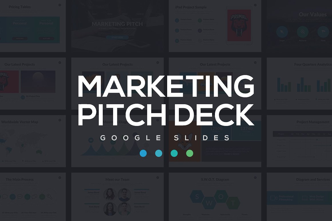 Marketing Pitch Deck Google Slides Template 1