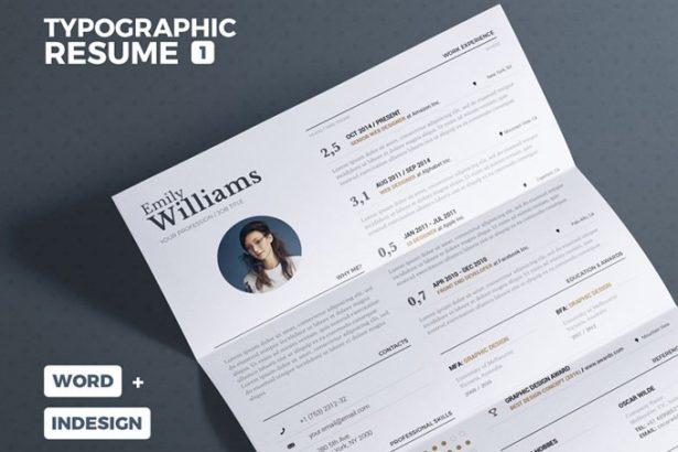 01 - Typgraphic Resume Template